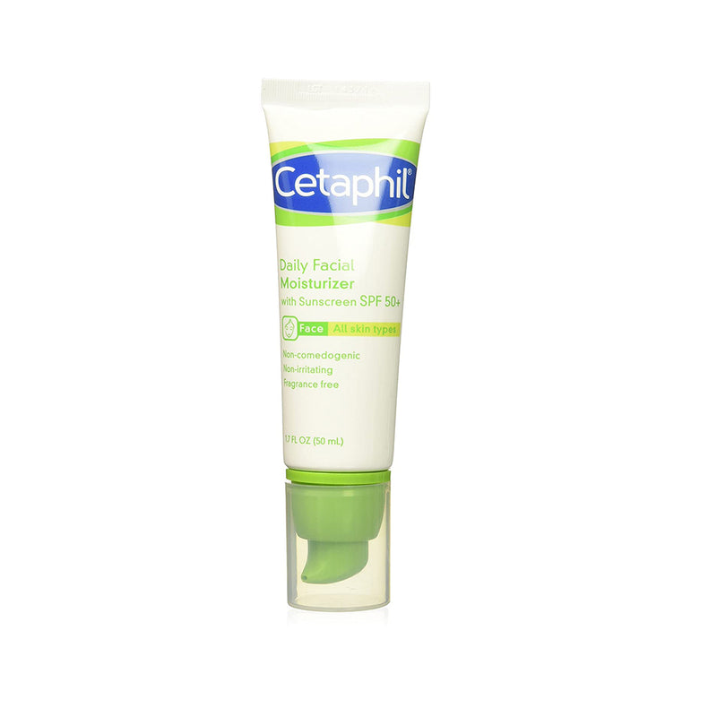 Cetaphil Daily Facial Moisturizer with sunscreen SPF 50+ | 1.7 oz (50 ml)