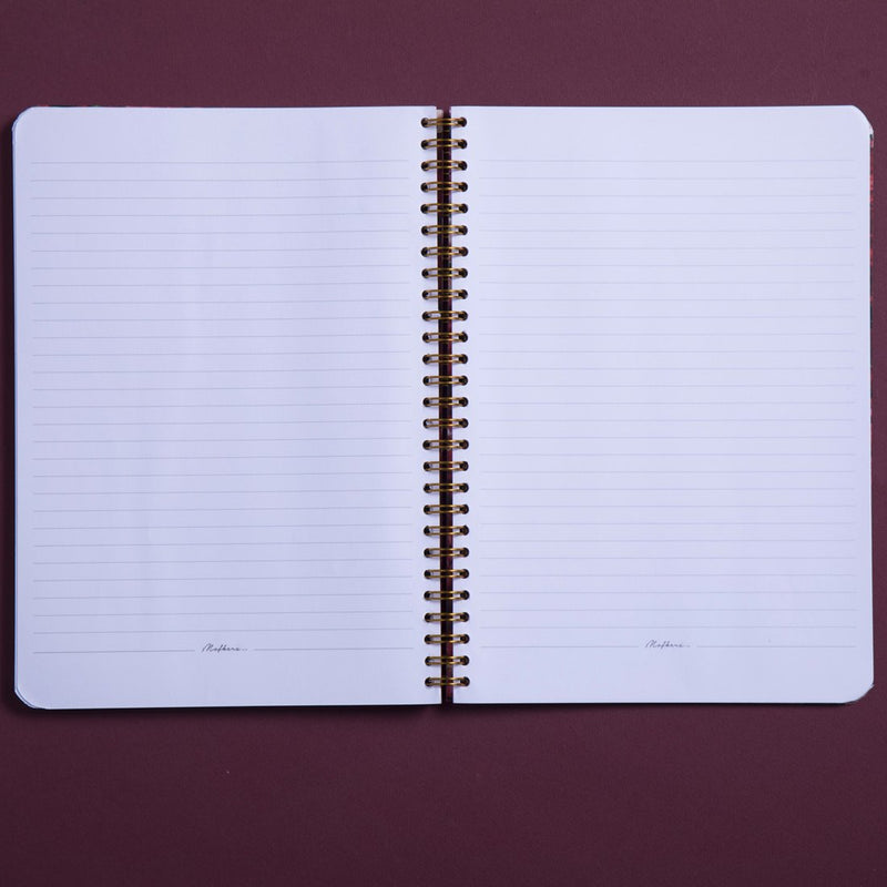 Fairuzy Large Wire Notebook A4 Size - Passion