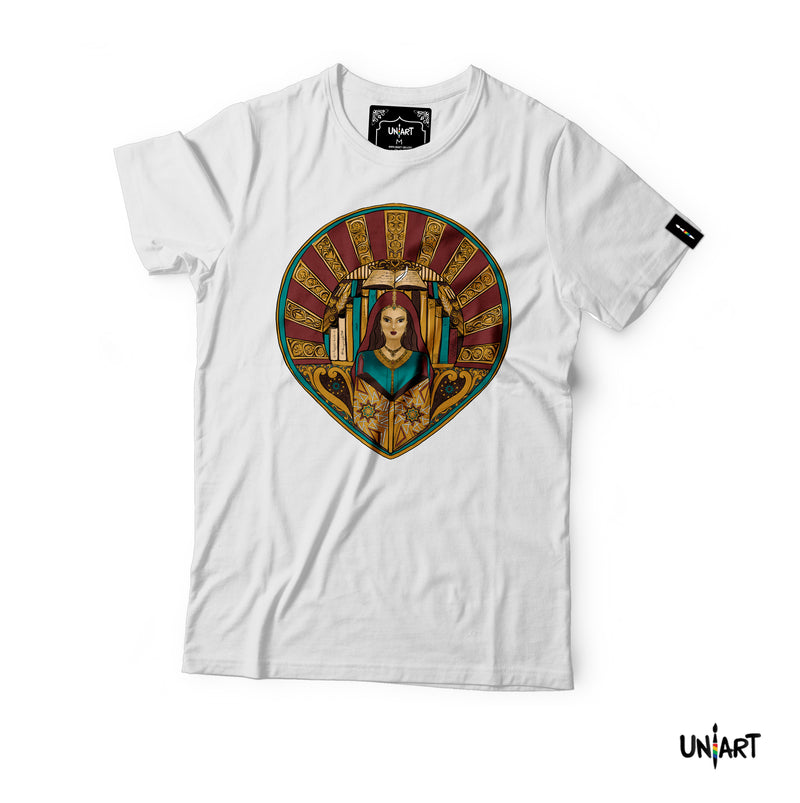 Uniart The Library of Fatima T-shirt