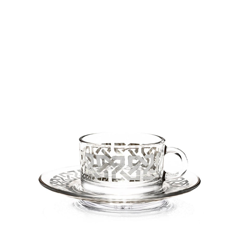 Set of 12 Pcs Platinum Celtic Coffee Cups and Saucers