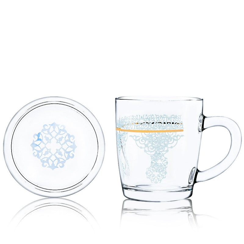 Set of 2 Pcs Mug and Cover (Gold)