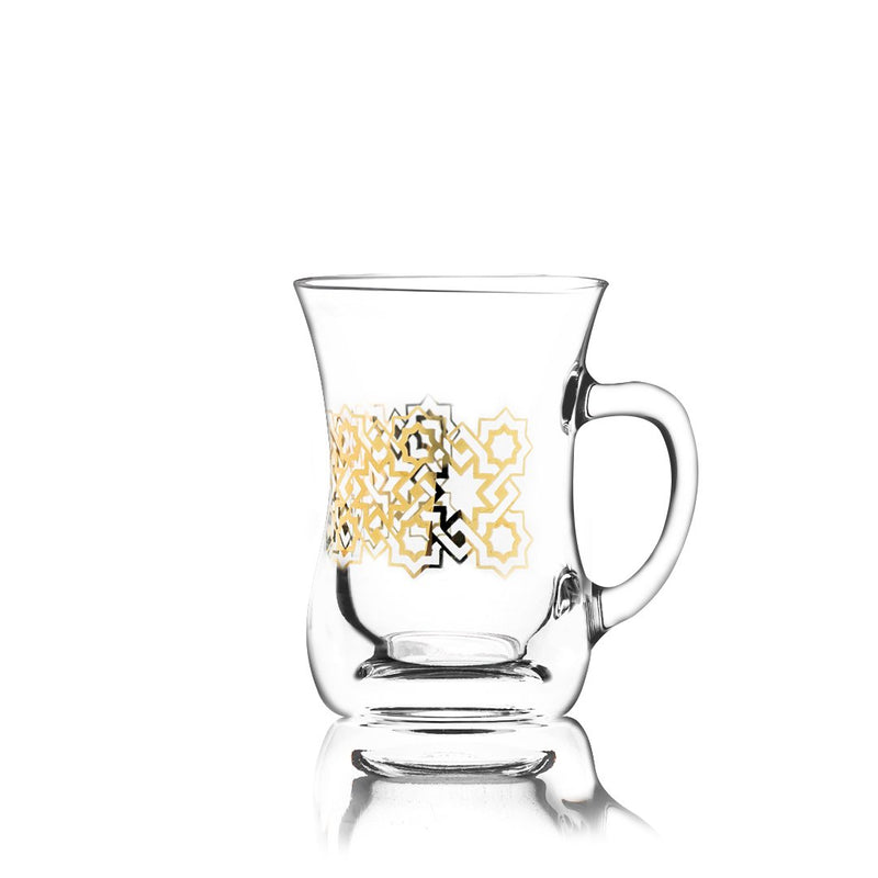 Set of 2 Pcs Mugs (Gold)