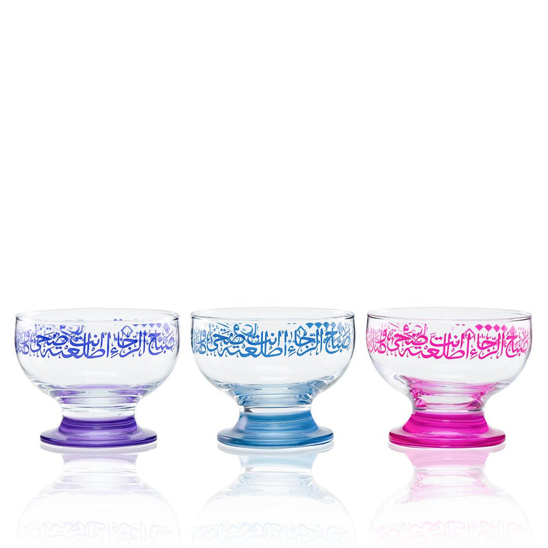 Set of 3 Pcs Ice-cream Cups (Organic Color)