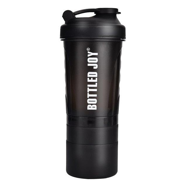 BOTTLED JOY Protein Shaker Bottle Non-Toxic Wide Mouth 100% Leak Proof Shake Water Bottles 27oz 800ml
