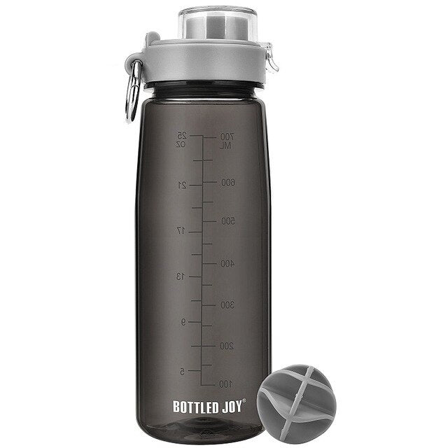 bottled joy 0.7L tritan Water Bottle with Cover One hand direct drinking Tritan bpa free cute leak proof my gym Plastic bottle