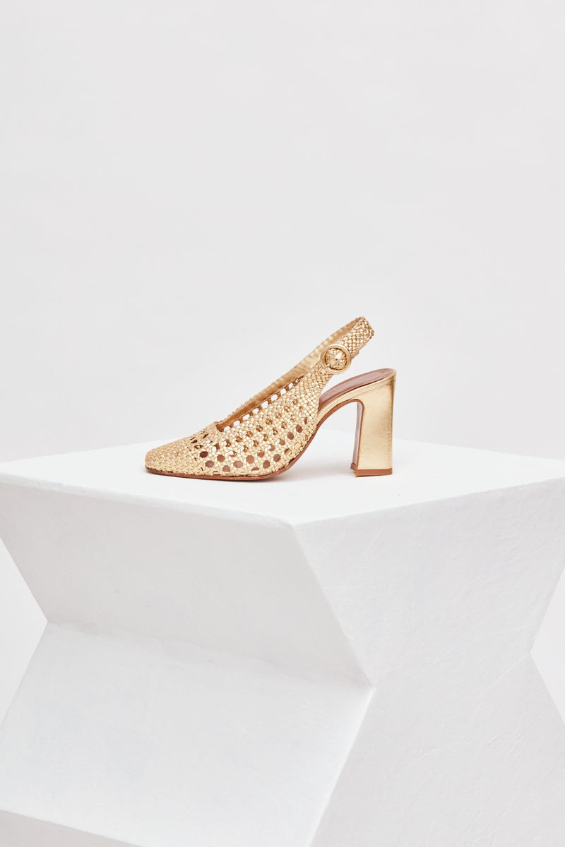 ZAHARA - Venus Woven Leather Pumps
