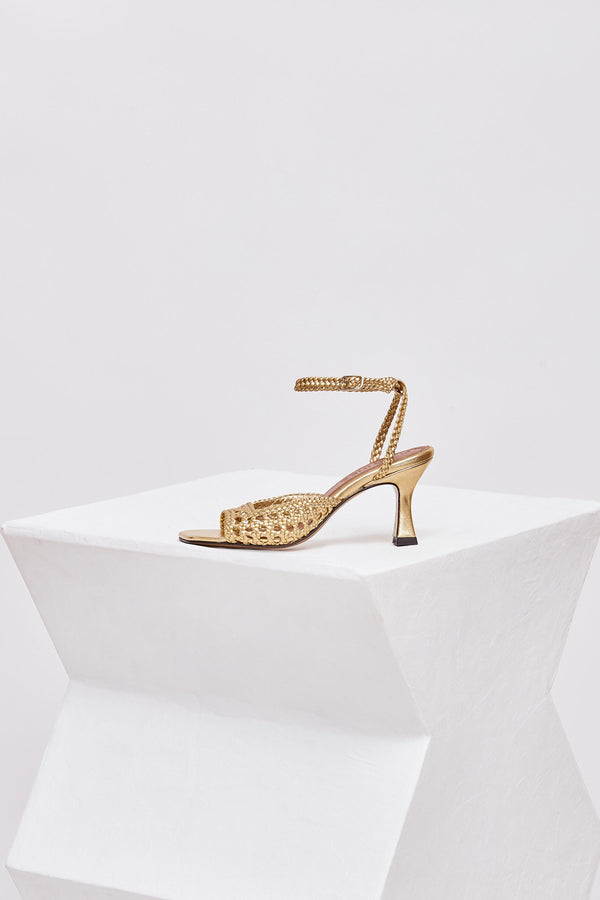 ARENALES - Venus Woven Leather Sandals