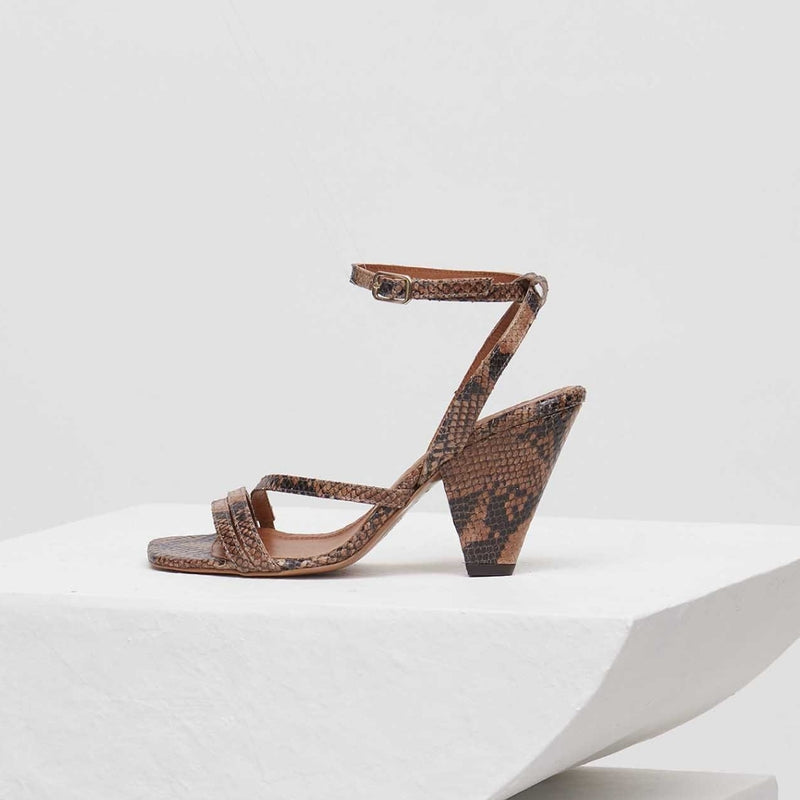 ARIZONA - Tierra Snake-Effect Leather Strappy Sandals