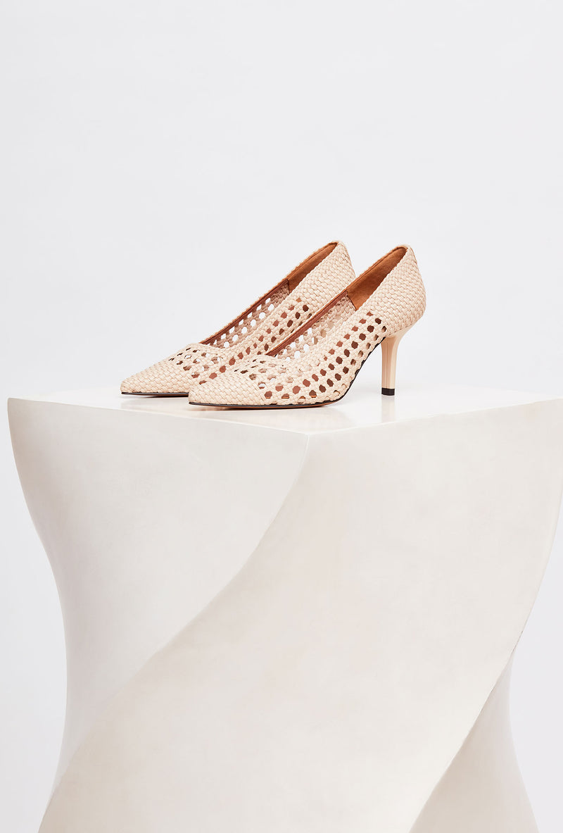 BALEARES - Trigo Woven Leather Pumps