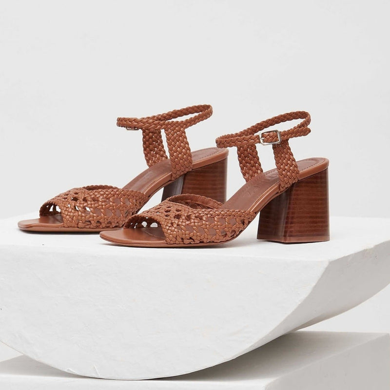 CAPRI -Tierra Woven Leather Sandals