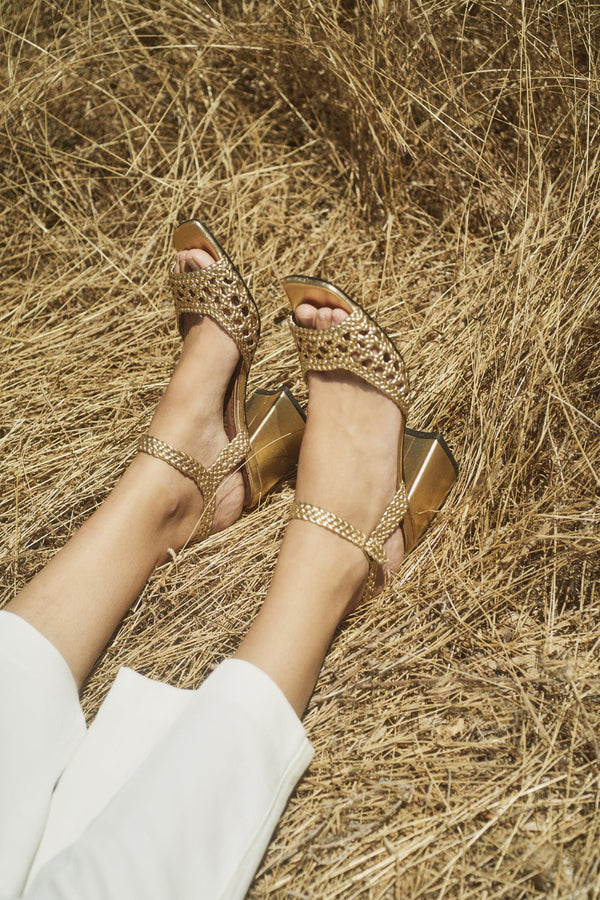 CAPRI - Venus Woven Leather Sandals