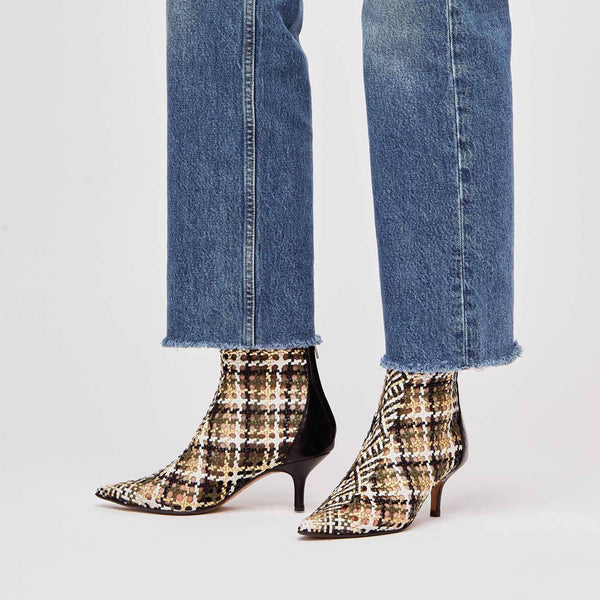 MAHON - Multicolored Woven Leather Ankle Boots