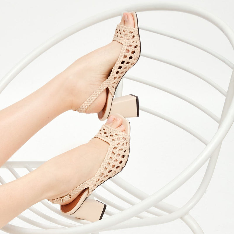 MONTEVIDEO - Trigo Woven Leather Sandals