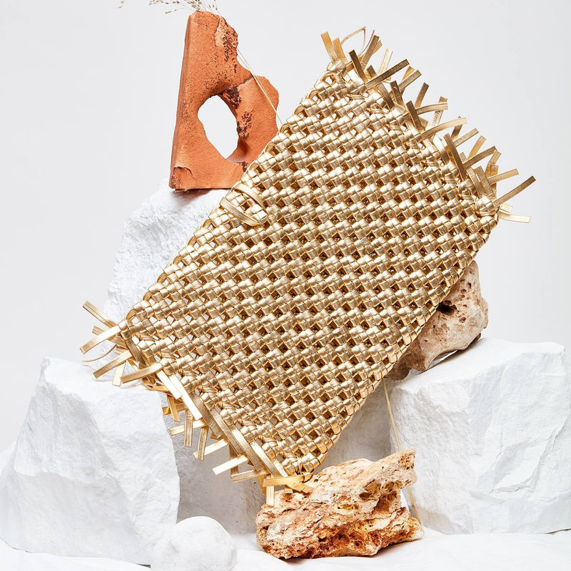 NUDOS - Venus Woven Leather Clutch