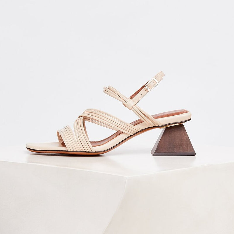 PENELOPE - Trigo Tubular Leather Sandals