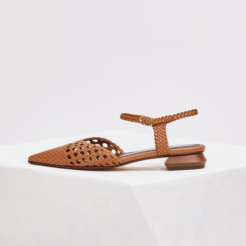 PORT BOU - Tierra Woven Leather Ballerina Flats