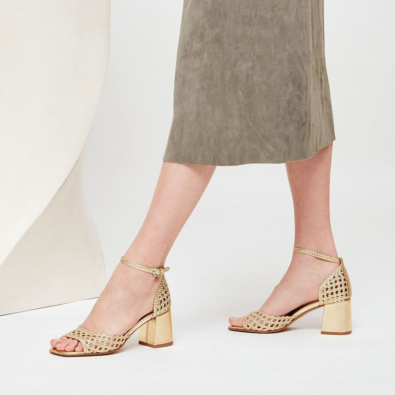 PROCIDA - Venus Woven Leather Sandals