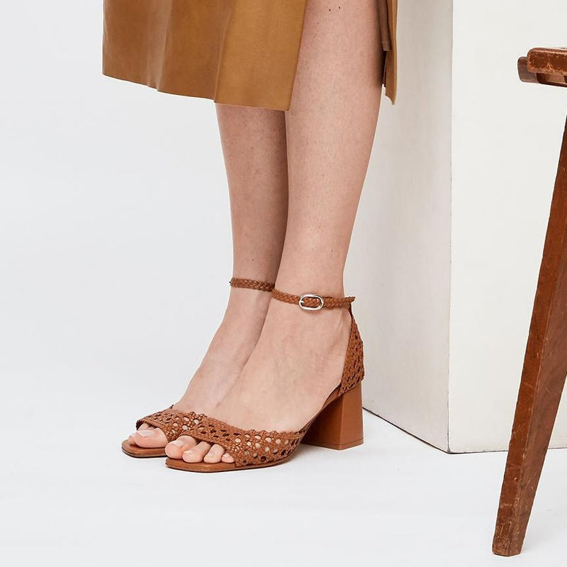 PROCIDA - Tierra Woven Leather Sandals