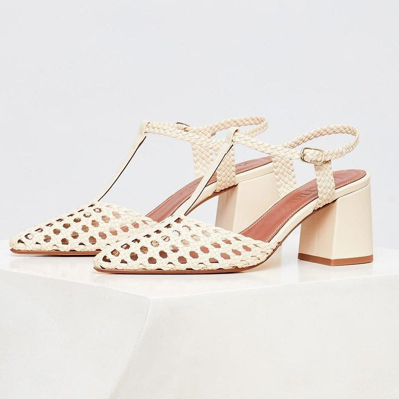 SEVILLA - Arena Woven Leather T-Bar Pump