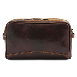 Igor - Leather toilet bag (TL140850) - Travel leather accessories | DILUSSOBAGS