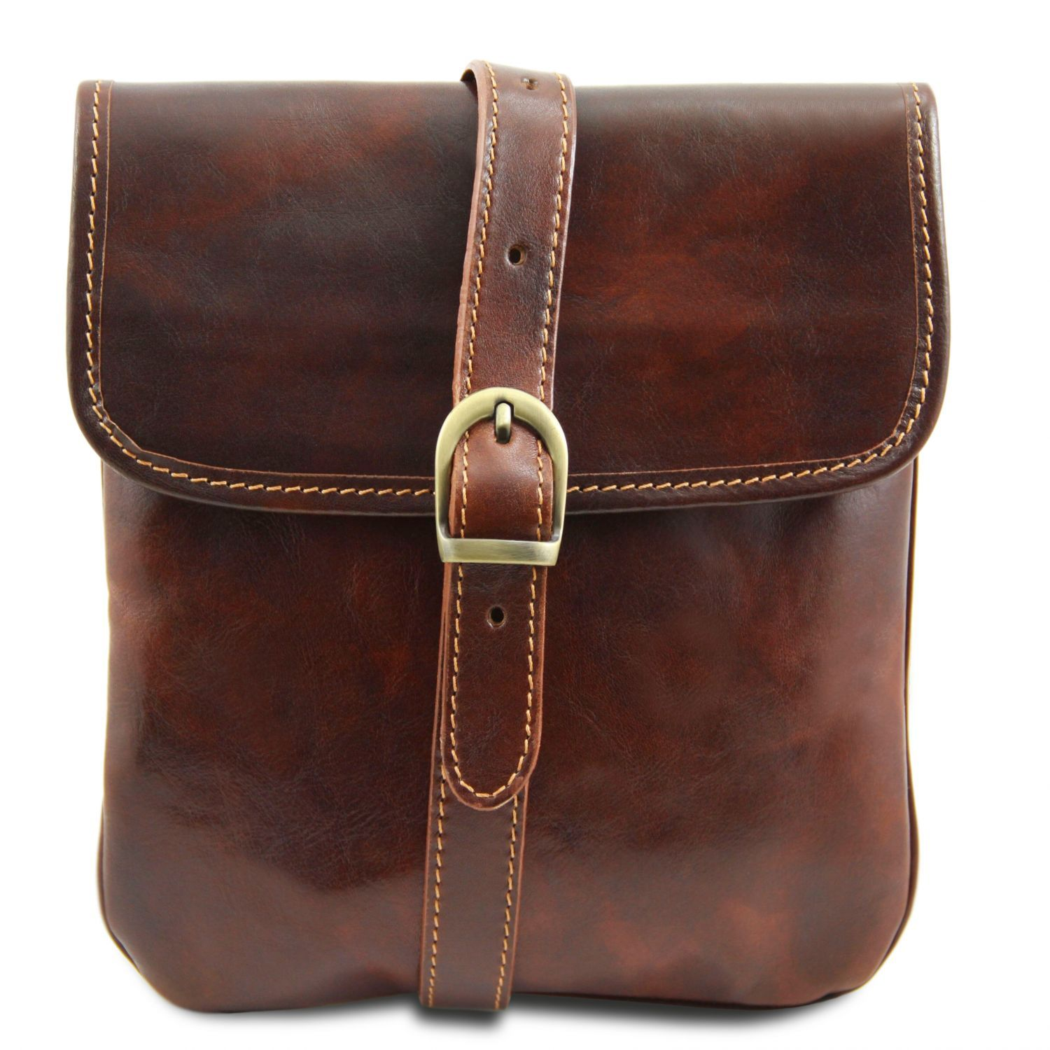 Joe - Leather Crossbody Bag (TL140987) - Leather bags for men | DILUSSOBAGS