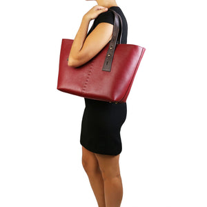 TL Bag - Leather shopping bag (TL141730) - Leather handbags | DILUSSOBAGS