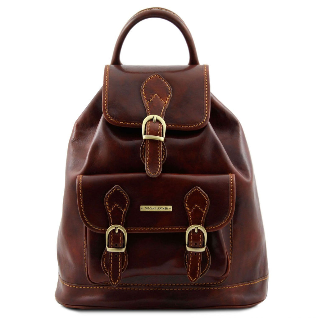 Singapore - Leather backpack (TL9039) - Leather Backpacks | DILUSSOBAGS