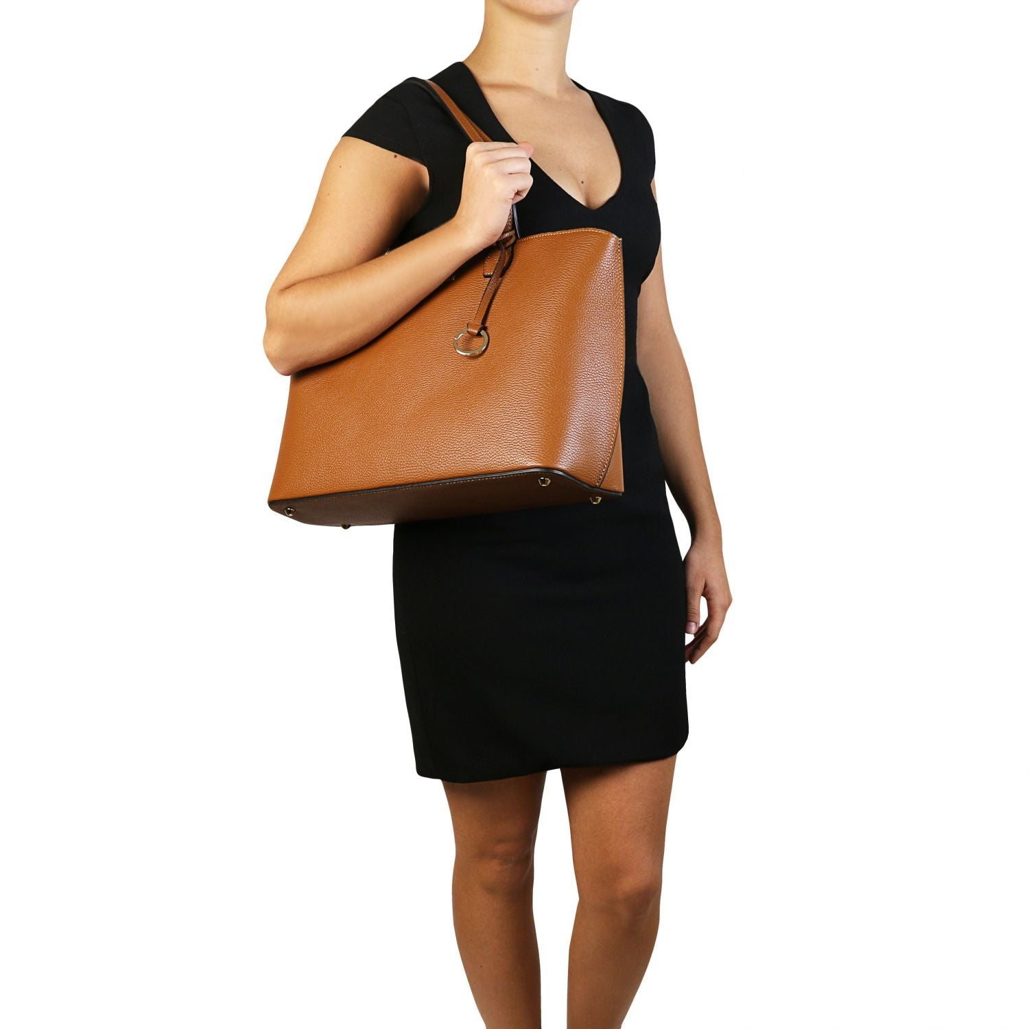 TL Bag - Soft leather tote bag (TL141828) - Leather shoulder bags | DILUSSOBAGS