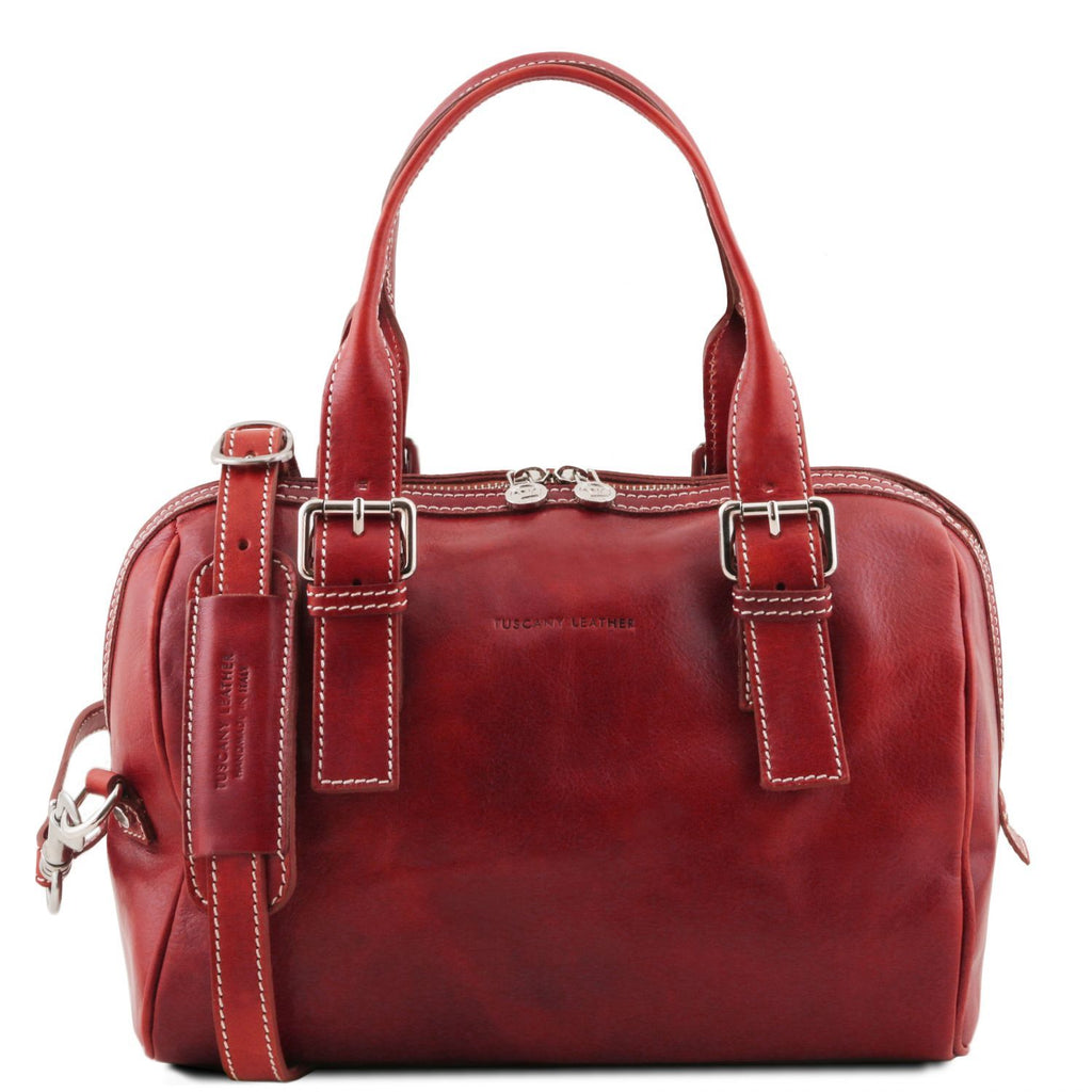Eveline - Leather duffle bag (TL141714) - Leather handbags | DILUSSOBAGS
