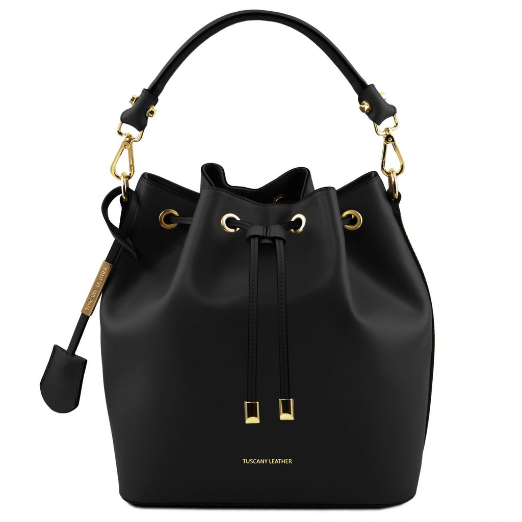 Vittoria - Leather secchiello bag (TL141531) - Leather handbags | DILUSSOBAGS