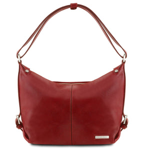 Sabrina - Leather hobo bag (TL141479) - Leather shoulder bags | DILUSSOBAGS