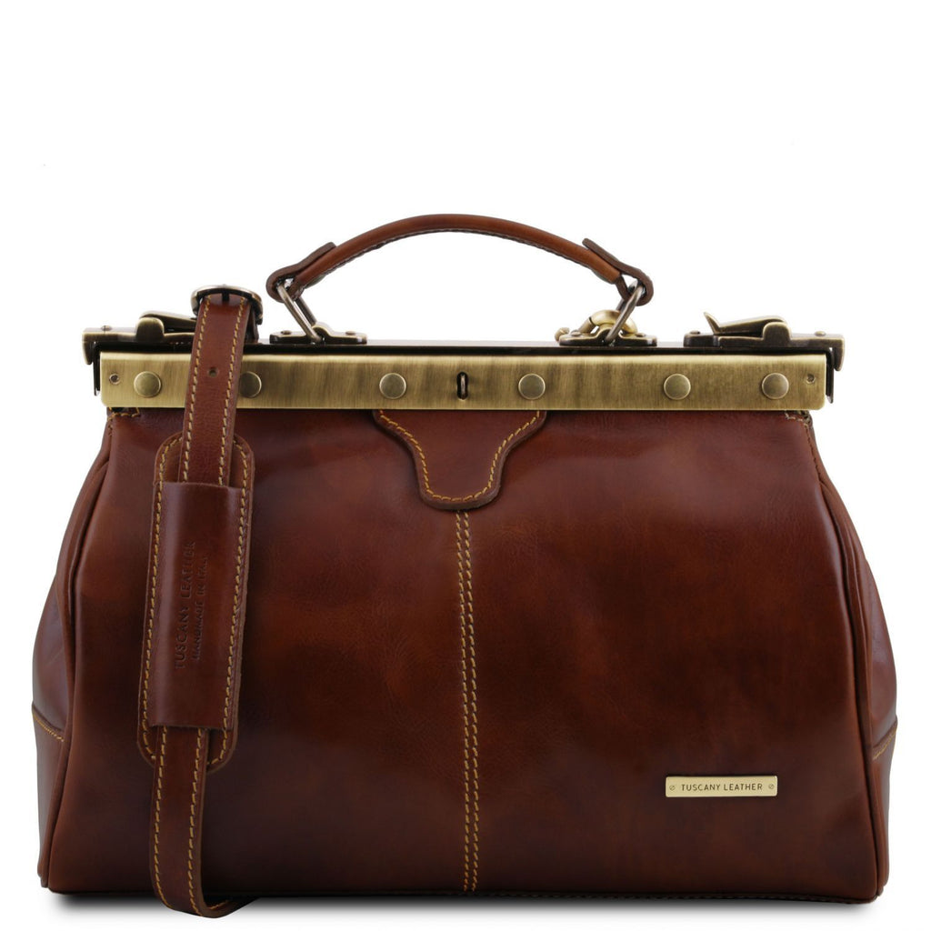 Michelangelo - Doctor gladstone leather bag (TL10038) - Doctor bags | DILUSSOBAGS
