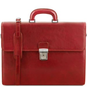 Parma - Leather briefcase 2 compartments (TL141350) - Leather briefcases | DILUSSOBAGS