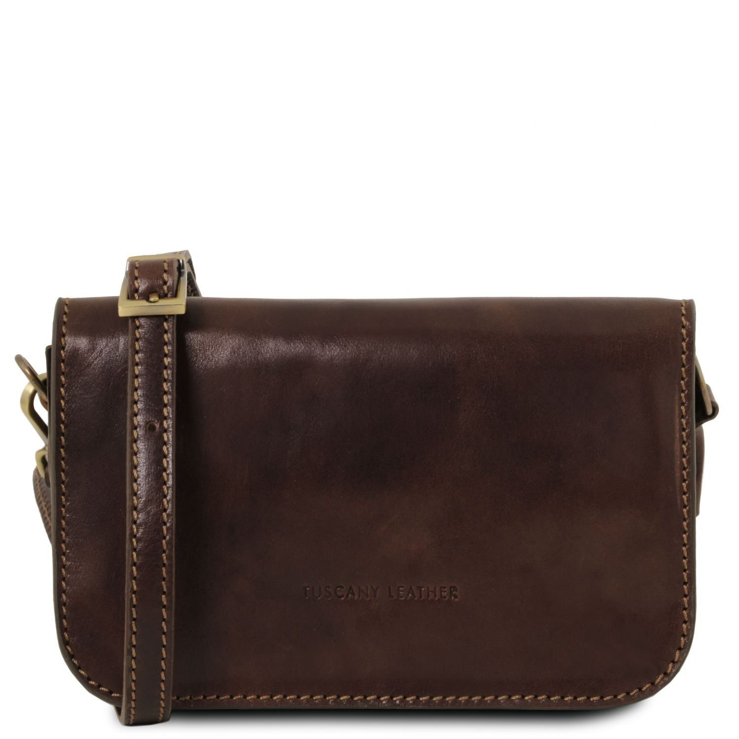 Carmen - Leather shoulder bag with flap (TL141713) - Leather shoulder bags | DILUSSOBAGS
