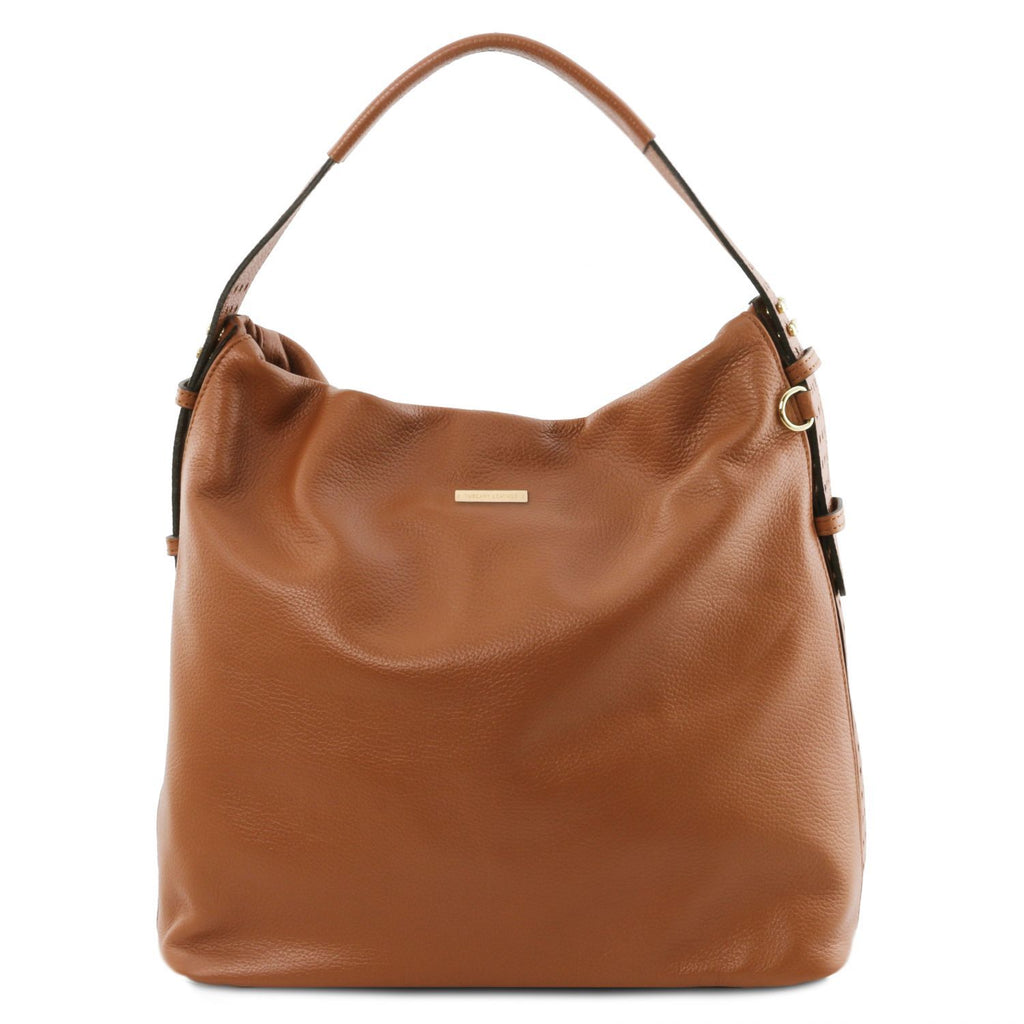 TL Bag - Soft leather hobo bag (TL141884) - Leather shoulder bags | DILUSSOBAGS