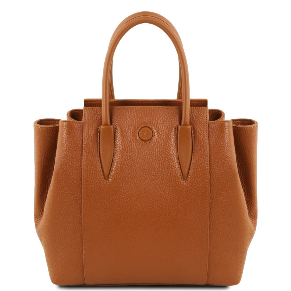 Tulipan - Leather handbag (TL141727) - Leather handbags | DILUSSOBAGS