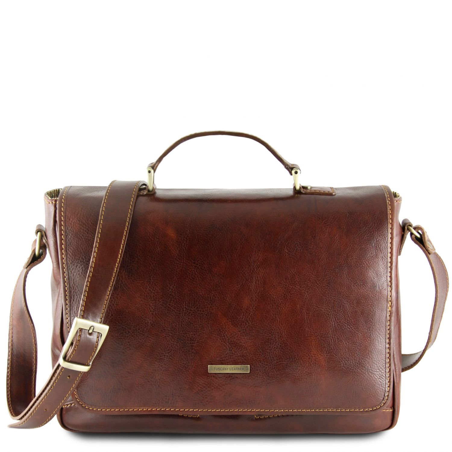 Padova - Exclusive leather laptop case (TL140891) - Leather laptop bags | DILUSSOBAGS