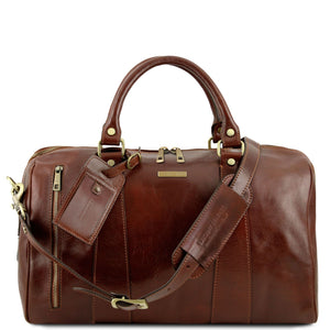 TL Voyager - Travel leather duffle bag - Small size (TL141216) - Leather Travel bags | DILUSSOBAGS