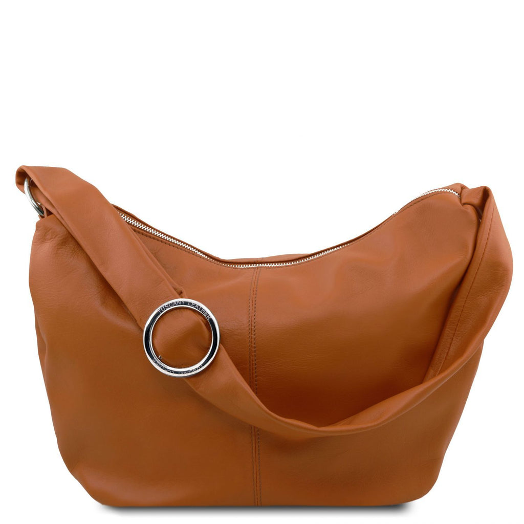 Yvette - Soft leather hobo bag (TL140900) - Leather shoulder bags | DILUSSOBAGS