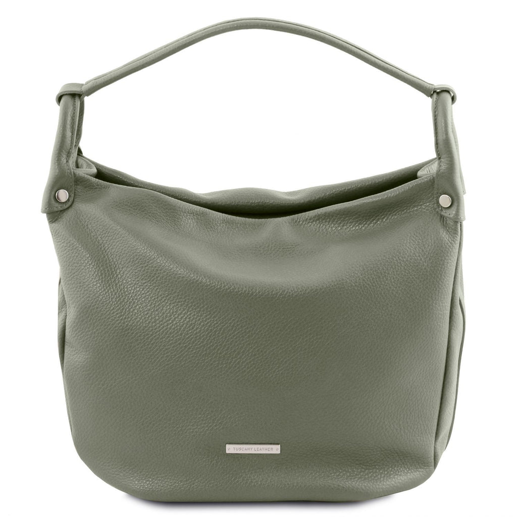TL Bag - Soft leather hobo bag (TL141855) - Leather handbags | DILUSSOBAGS