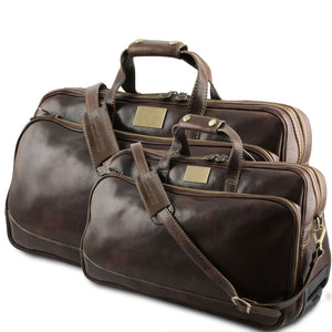 Bora Bora - Leather Trolley travel set (TL3072) - Leather travel sets | DILUSSOBAGS