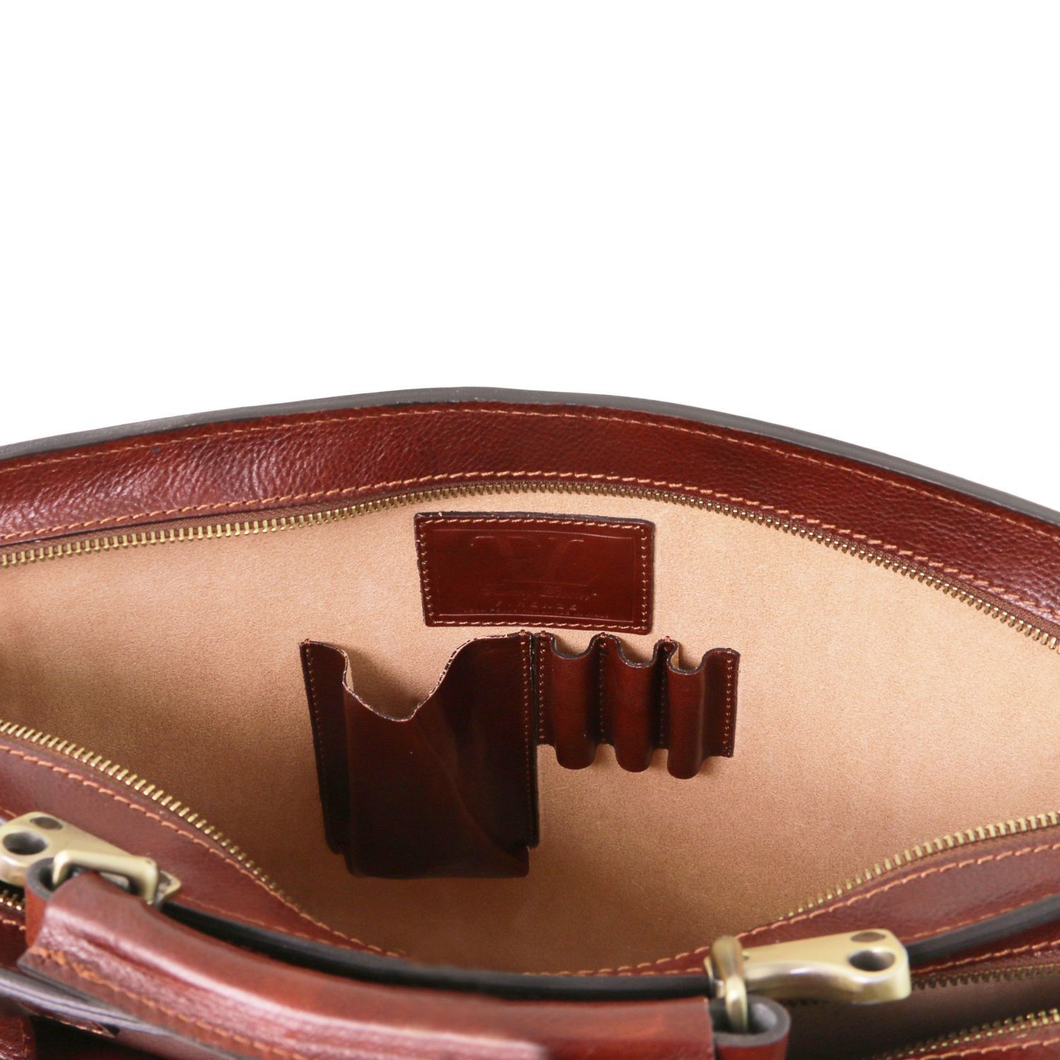 Venezia - Leather briefcase 2 compartments (TL141268) - Leather briefcases | DILUSSOBAGS