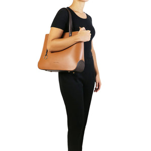 Penelope - Leather tote (TL141791) - Leather shoulder bags | DILUSSOBAGS
