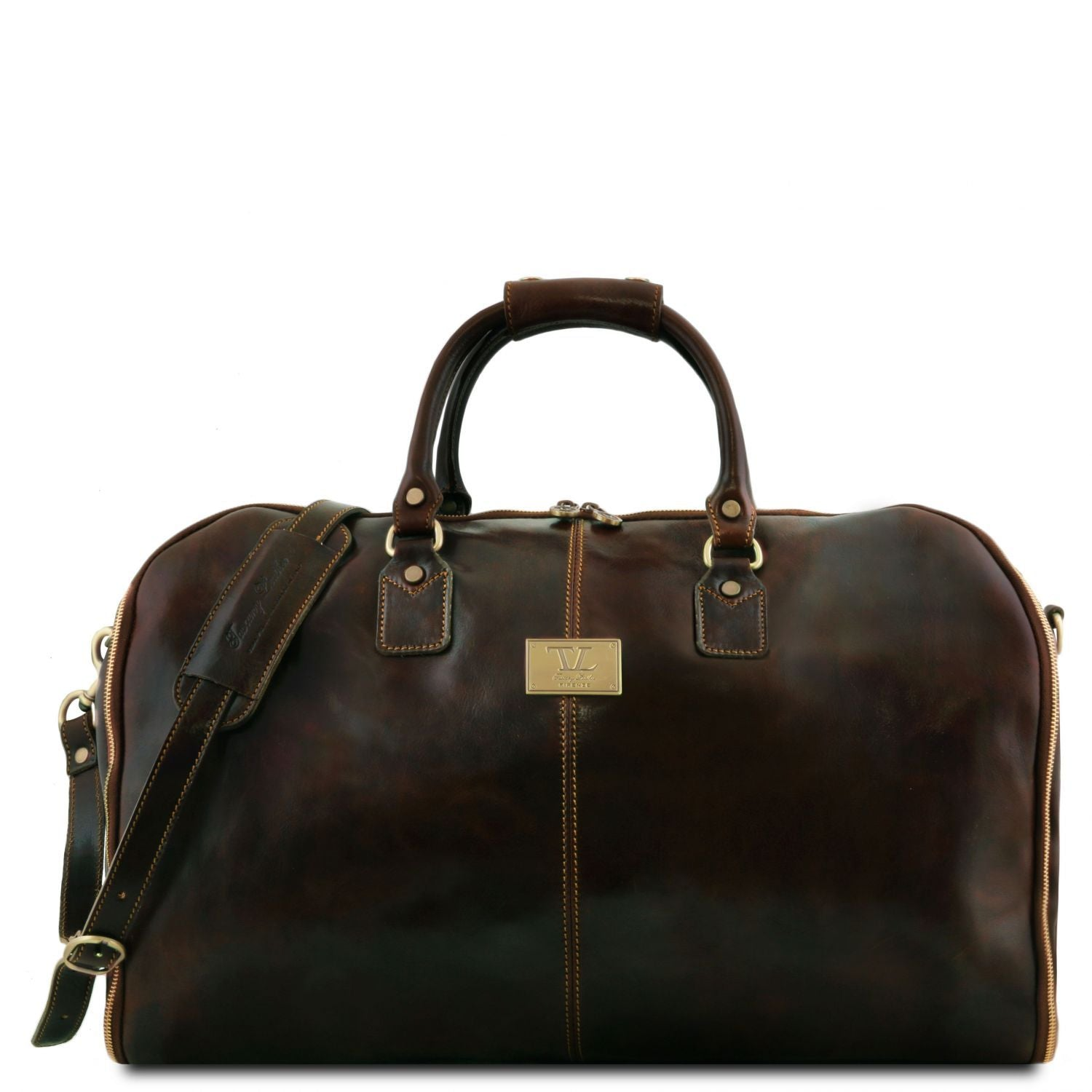 Antigua - Travel leather duffle/Garment bag (TL141538) - Leather Travel bags | DILUSSOBAGS