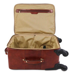 TL Voyager - 4 Wheels vertical leather trolley (TL141911) - Leather Wheeled luggage | DILUSSOBAGS