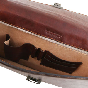 Amalfi - Leather briefcase 1 compartment (TL141351) - Leather briefcases | DILUSSOBAGS