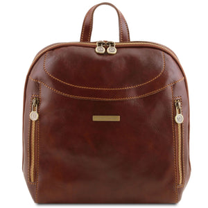 Manila - Leather backpack (TL141557) - Leather Backpacks | DILUSSOBAGS