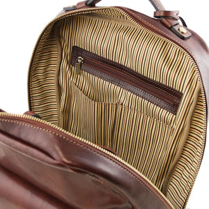 Kyoto - Leather laptop backpack (TL141859) - Leather Backpacks | DILUSSOBAGS