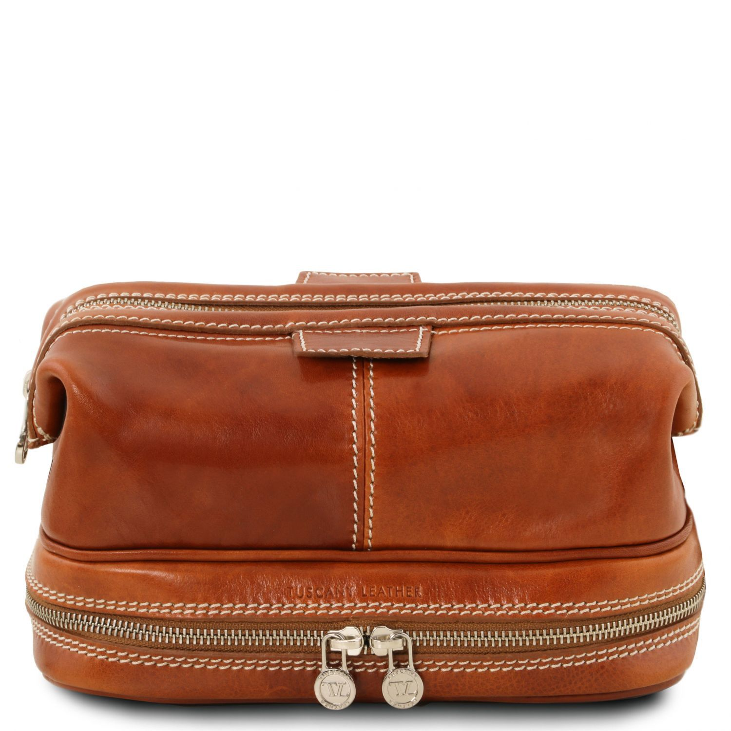 Patrick - Leather toilet bag (TL141717) - Travel leather accessories | DILUSSOBAGS