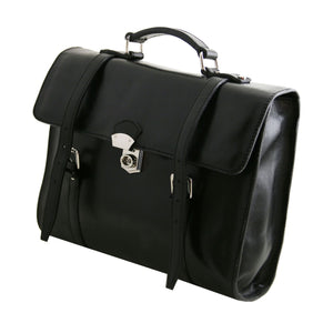 Viareggio - Exclusive leather laptop case with 3 compartments (TL141558) - Leather laptop bags | DILUSSOBAGS